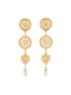 Weekend In Taormina Sun dangling stud earrings