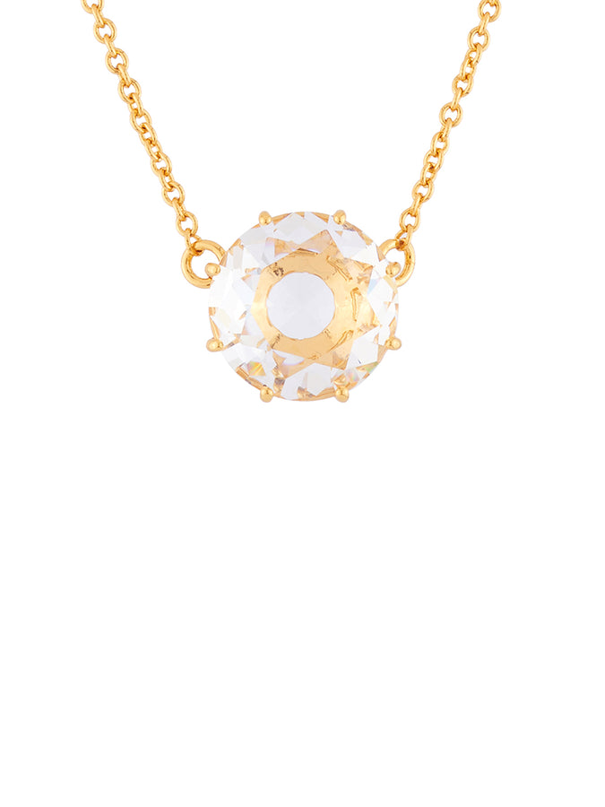 La Diamantine Crystal Round Stone Necklace