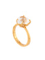 La Diamantine Crystal Heart-Shaped Stone Ring - Gold Alternate View