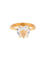 La Diamantine Crystal Heart-Shaped Stone Ring - Gold