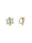 La Diamantine 6 Stones Clip-On Small Hoop Earrings Alternate View