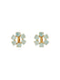 La Diamantine 6 Stones Clip-On Small Hoop Earrings