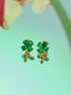 Bring Me Happiness Four-Leaf Jade Clover and Golden Drop Clip-on Earrings Alternate View