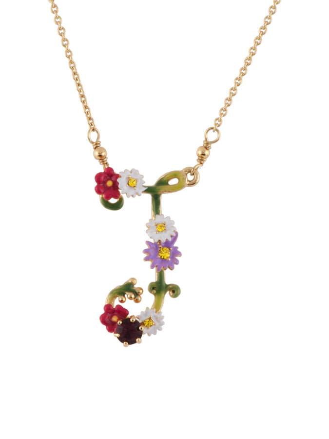 Floral Letters I Necklace