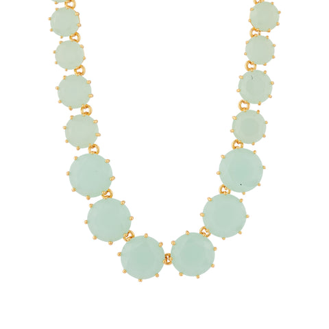 La Diamantine Green Stones Long Necklace