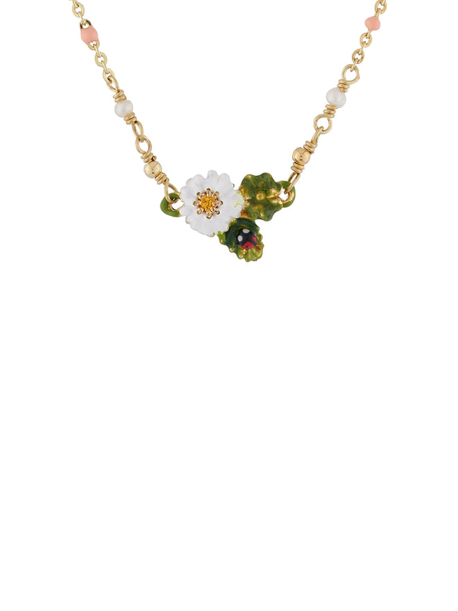 Lovely Daisies Clover with Ladybird and Daisy Necklace