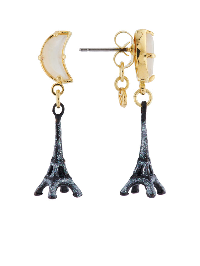 From Paris with Love Eiffel Tower In The Moonlight Earrings Alternate View