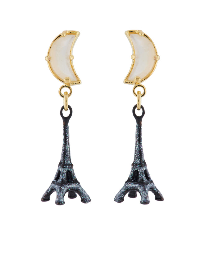 From Paris with Love Eiffel Tower In The Moonlight Earrings