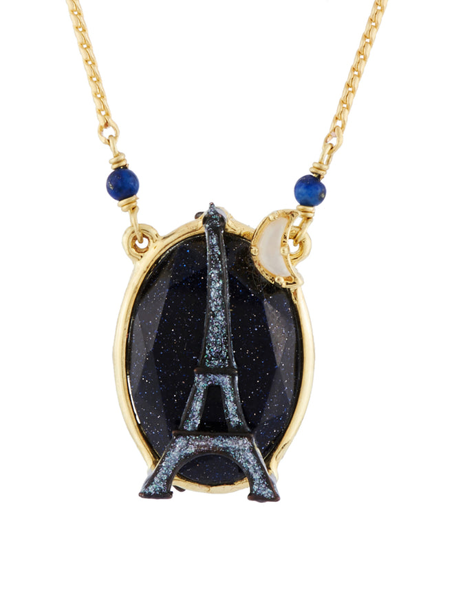From Paris with Love Sparkling Eiffel Tower In The Moonlight Necklace