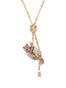 Les Nereides Loves Animals Siamese Cat and Blue Stone Necklace