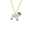Les Néréides Loves Animlas Pug pendant thin necklace