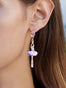 Pas de Deux Lilac Ballerina Stud Earrings Alternate View