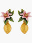 Summer Scents Lemon and Citrus Blossom Clip-on Earrings