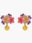 Summer Scents Lemon and Flower Clip-on Earrings