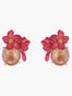Summer Scents Oleander Flower Dormeuses Earrings