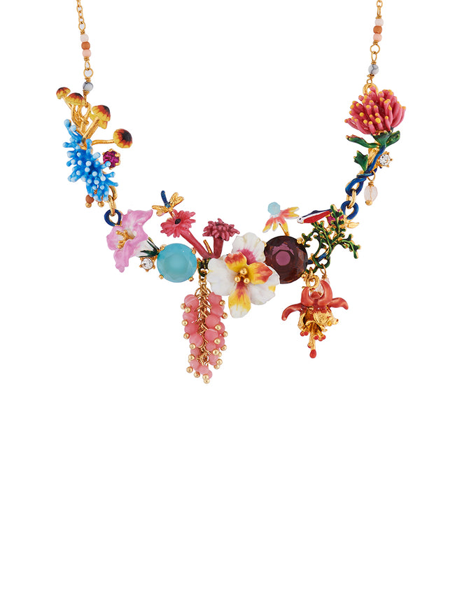 Mysterious Garden Bunch of flowers from a stanger garden couture necklace