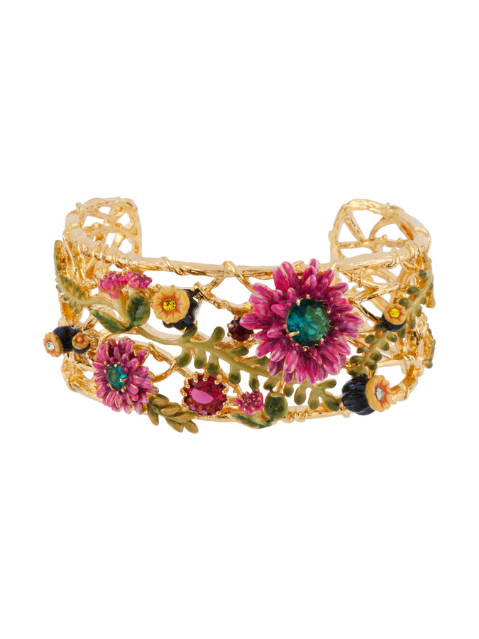 Chimera Plant Bouquet of A Chimerical Garden Couture Bangle - Multicolor