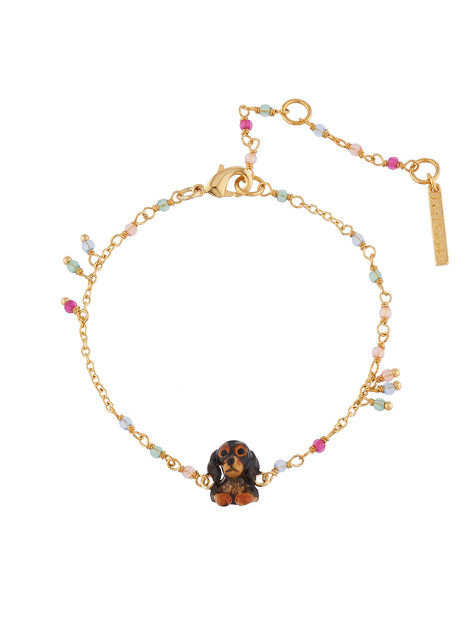 Les Néréides Loves Animals Dachshund and Little Beads Bracelet