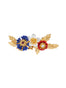 Golden Fields Cornflower, poppy and cosmos brooch