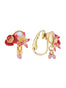 Dazzling Discretion Poppy, white flower, coco plum and mother-of-pearl clip-on earrings Alternate View