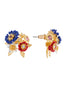 Golden Fields Bucolic bouquet stud earrings Alternate View
