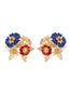 Golden Fields Bucolic bouquet stud earrings