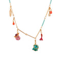 Atlantide Anemones, Branch of Coral, Crab's Pincer and Charms Necklace