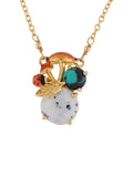 Dazzling Discretion Mushrooms and Ladybrids on Stone Necklace