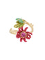 Suspended Garden Passion flower adjustable ring