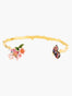 Cherry blossom and Japanese Emperor butterfly bangle - Multicolore Alternate View