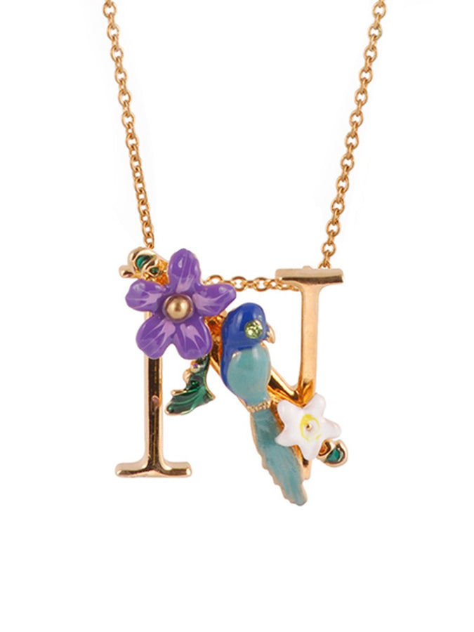 Alphabet Fleuri Necklace