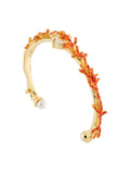 Exoplanet Branches of Corals Semi-Rigid Bracelet - Orange