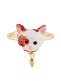 Les Nereides Loves Animals Cat's Face Adjustable Ring