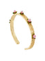 Balad In Versailles Rosebuds Bangle Bracelet - Pink Alternate View