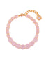 La Diamantine Luxurious Pink Stones Thin Bracelet