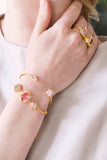 Yes I Do Shades of pink crystals chain bracelet