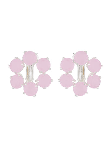La Diamantine Clip-on small hoops earrings La Diamantine with 6 stones