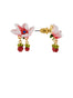 Balad In Versailles Pink Flower and Little Blackberries Earrings Alternate View