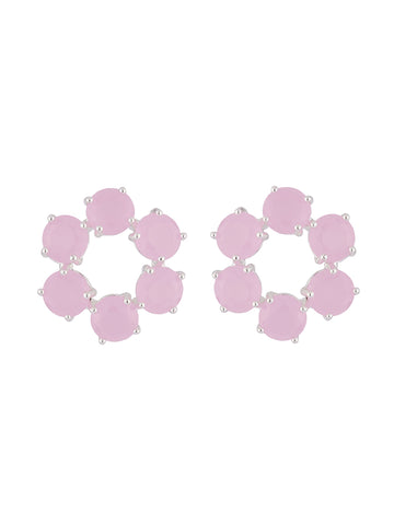 La Diamantine Small hoops stud earrings La Diamantine with 6 stones