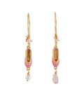 Pas de Deux Pink Ballet Shoes and Charms Earrings