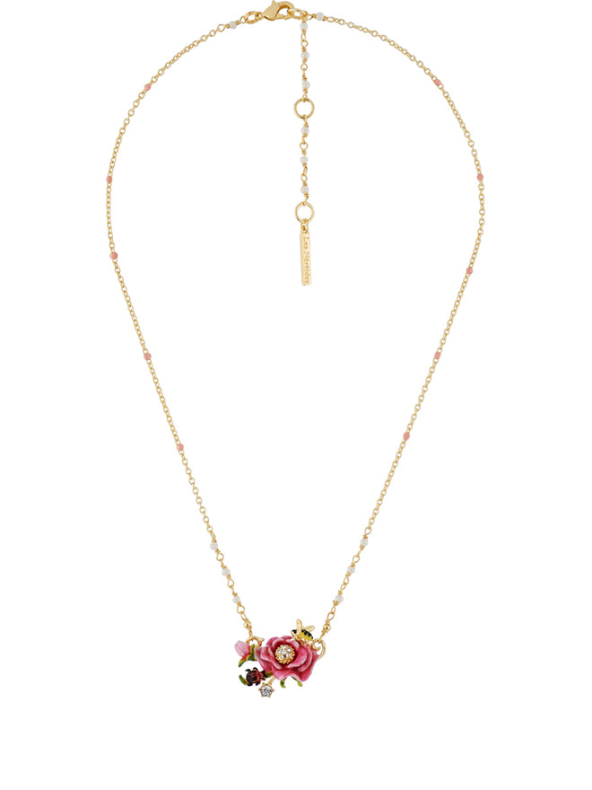 Balad In Versailles Pink Flower Necklace Alternate View