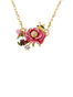 Balad In Versailles Pink Flower Necklace