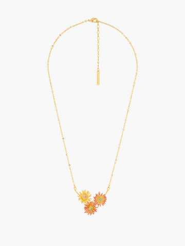 Flower of Love Trio Pendant Necklace