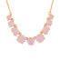 La Diamantine 9 Pink Stones Necklace
