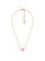 La Diamantine Pink Round Stone Pendant Necklace Alternate View