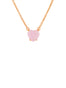 La Dimantine Pink Heart Stone Pendant Necklace