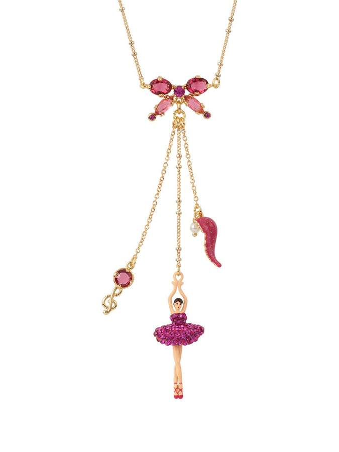 Luxury Pas de Deux Hollywood Pink Multi Ballerina Necklace