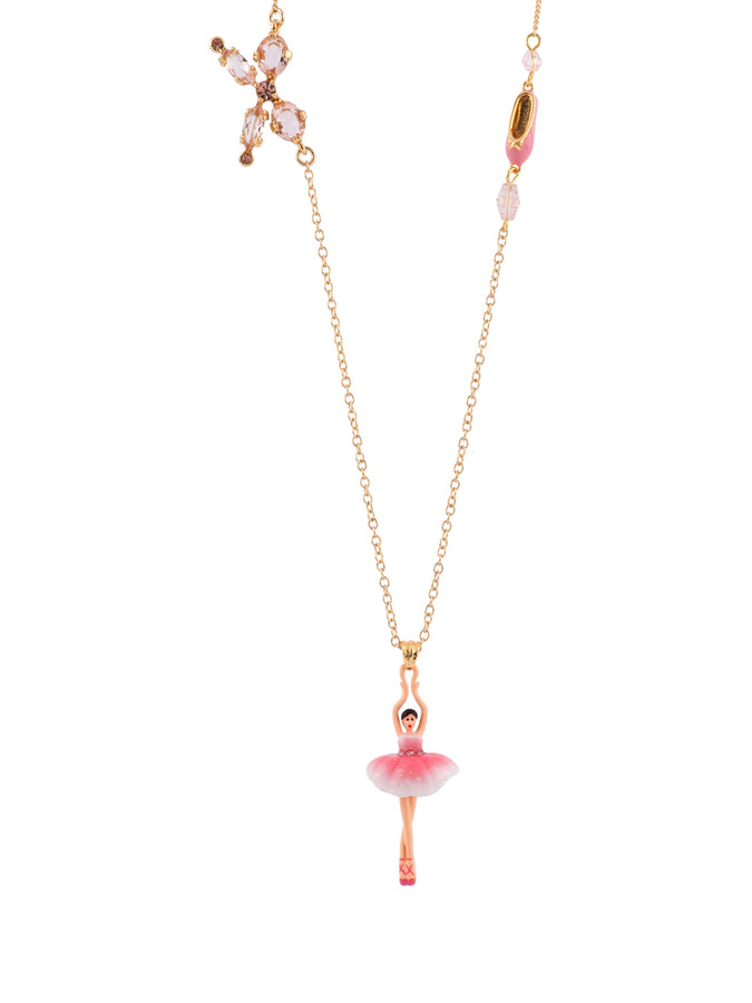 Pas de Deux Multi Sparkling Pink Ballerina Long Necklace