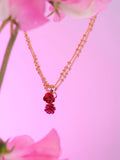 Red Rosebud Pendant Necklace