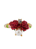 Balad In Versailles Roses and Pearl Ring - Pink